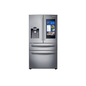 28 cu. ft. 4-Door French Door with 21.5 in. Connected Touch Screen Family Hub Refrigerator -