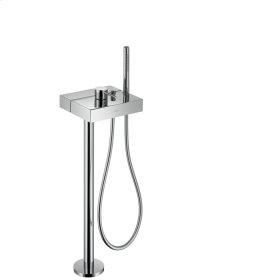 Brushed Gold Optic Single lever bath mixer floor-standing