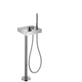 Brushed Chrome Single lever bath mixer floor-standing