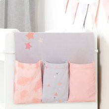 Doudou the rabbit Changing Table Runner and Pennant Banner - Pink and Gray