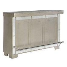 Contemporary Metallic Platinum Bar Unit
