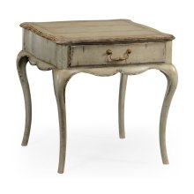 Grey Rub-Through Square Side Table