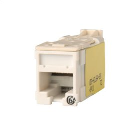 Clarity Cat6a High Density Jack,T568A/B, white