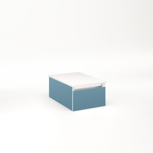 """Cartesian 12-1/8"""" X 7-1/2"""" X 18-3/4"""" Slim Drawer Vanity In Ocean With Slow-close Full Drawer and No Night Light"""