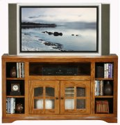 Thin-Screen Entertainment Console with Bookcase Sides