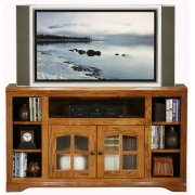 Thin-Screen Entertainment Console with Bookcase Sides Product Image