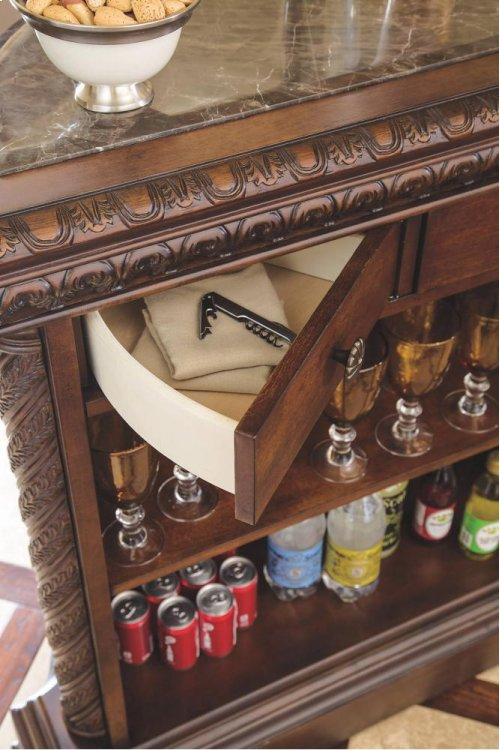 Bar with Marble Top