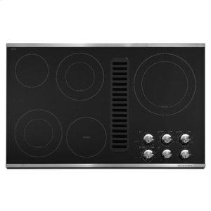"KitchenAidKitchenAid® 36"" Downdraft Electric Cooktop with 5 Elements - Stainless Steel"