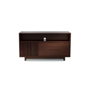 Bdi FurnitureTall Media Console 8556 in Chocolate Stained Walnut