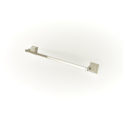 24in Towel Bar Leyden Series 14 Polished Nickel