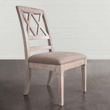 Western Brown Compass X Back Side Chair