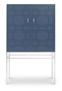 Bar Cabinet With Mirrored Back Panel Product Image