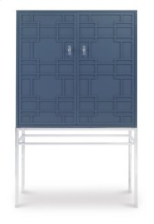 Bar Cabinet With Mirrored Back Panel