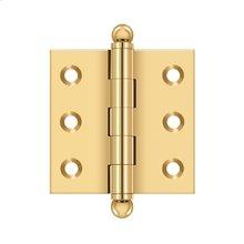 "2""x 2"" Hinge, w/ Ball Tips - PVD Polished Brass"