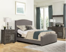 Kerstein Adjustable Cal King Bed Set - Orly Gray