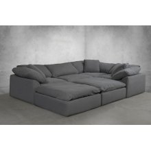 Sunset Trading Cloud Puff Slipcovered 6 Piece Modular Sectional Sofa - 391094