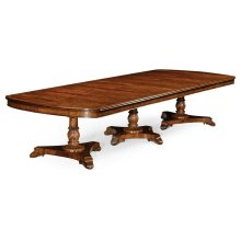 Mahogany Triple Pedestal Dining Table