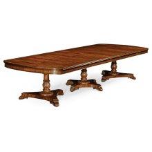 Mahogany Triple Pedestal Dining Table
