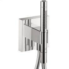 Chrome Porter unit 120/120 with baton hand shower 2jet and shower hose