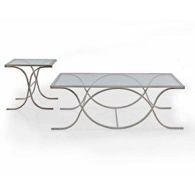 Glass SILVER Rectangular Coffee Table