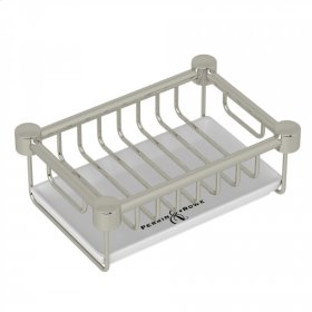Polished Nickel Perrin & Rowe Holborn Free Standing Soap Basket