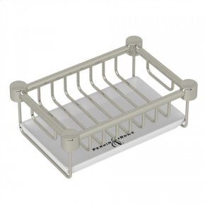 Polished Nickel Perrin & Rowe Holborn Free Standing Porcelain Soap Basket