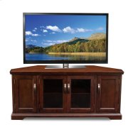 "Chocolate Cherry 60"" Corner TV Console #81386 Product Image"