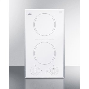 Summit2-burner Electric Cooktop In Smooth White Ceramic Glass Finish