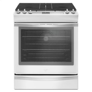 5.8 Cu. Ft. Slide-In Gas Range with EZ-2-Lift Hinged Grates - WHITE ICE