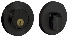 Satin Black Contemporary Deadbolt