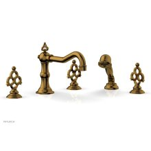 MAISON Deck Tub Set with Hand Shower 164-48 - French Brass