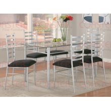 """DINING TABLE/SILVER 59""""X35-1/2""""X30""""H"""