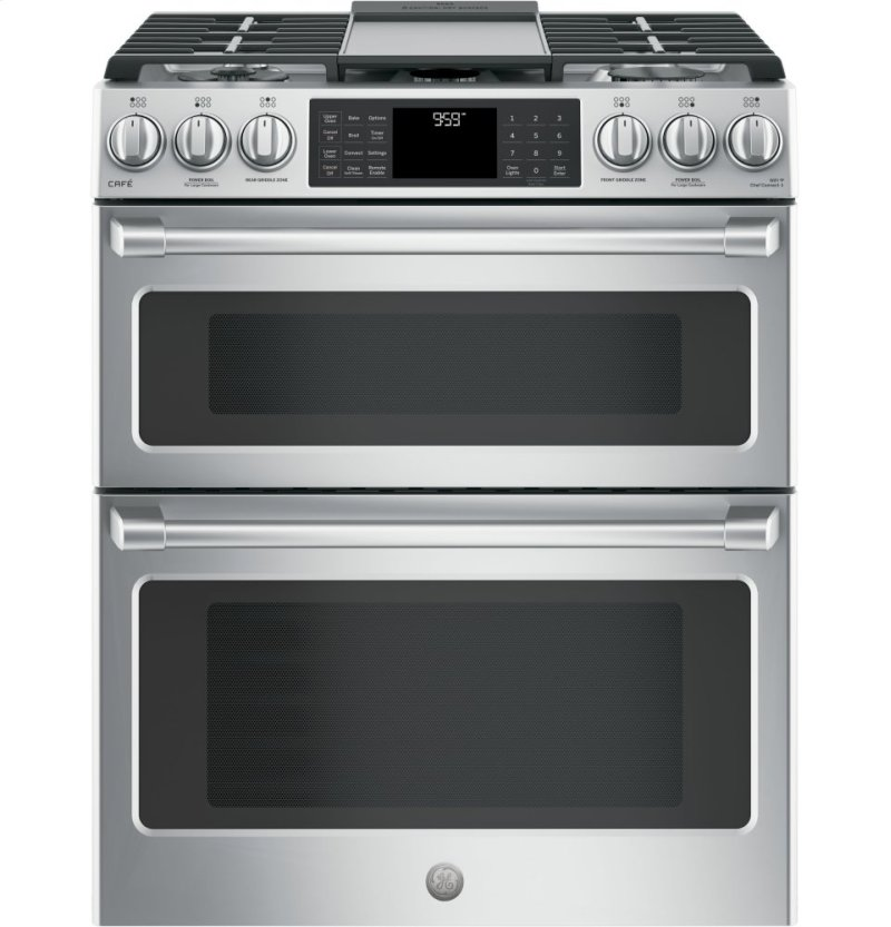 Ge Cafe Series 30 Slide In Front Control Gas Double Oven With Convection