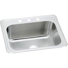 "Elkay Stainless Steel 25"" x 22"" x 12-1/4"", Single Bowl Drop-in Sink"