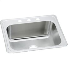 "Elkay Stainless Steel 25"" x 22"" x 10-1/4"", Single Bowl Drop-in Laundry Sink"