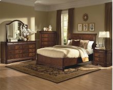 Sheridan 5/0 Q Bed w/Storage Base - 5/0 Queen Headboard