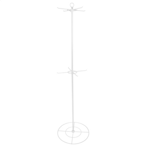 """White 72"""" 2 Tier/8 Arm Rotational Hanging Display"""