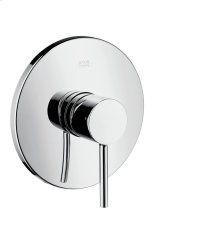 Chrome Single lever shower mixer for concealed installation with round lever handle