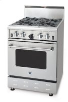 "24"" BlueStar - Residential Power Burner (RPB). All gas range.. Features NOVA™, SUPERNOVA™, and Simmer Burners for up to 18,000 BTUs .. Convection fan system for most complete exchange of air possible.. Largest oven capacity available on a 24"" range.. 24"" depth for compatibility with standard kitchen cabinetry.. Oven door window.. 1850(DEGREE) infrared broiler.. Full motion grates.. Product Image"