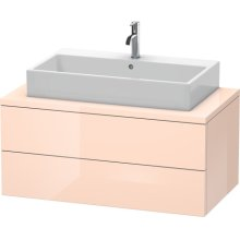 Delos Vanity Unit For Console, Apricot Pearl High Gloss Lacquer