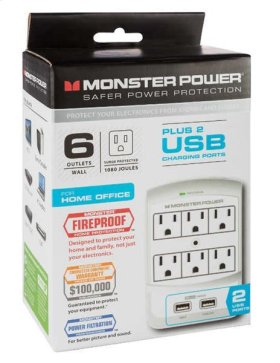 Core Power® 650 USB Wall Outlet - White