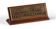 Jonathan Charles Counter Top Sign