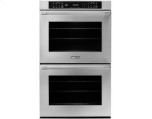 """27"""" Heritage Double Wall Oven in Stainless Steel - ships with Epicure Style stainless steel handle with chrome end caps."""