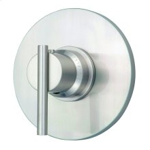 "Brushed Nickel Parma® Single Handle 3/4"" Thermostatic Valve Trim Kit"