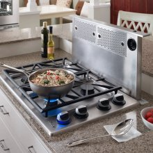 "Renaissance 36"" Round Cap Downdraft, in Stainless Steel"