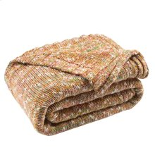 Darling Knit Throw - Mustard / Ivory / Congo Pink / Fuschia / Bondi Blue / Vermoline Orange / Natural