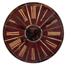 Red Large Wall Clock