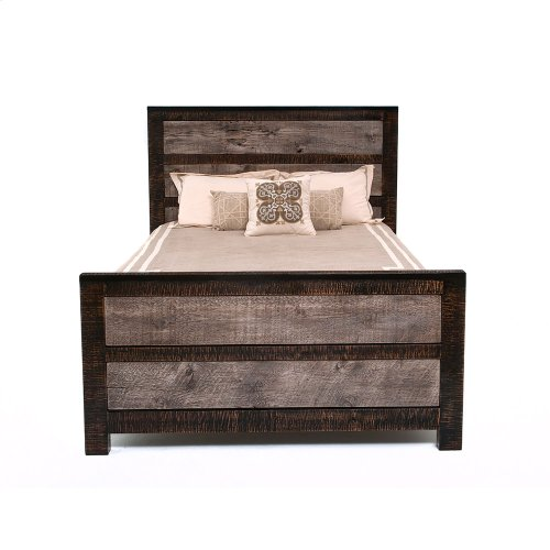 Urban Graphite Panel Bed - King Bed (complete)
