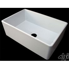 """Biscuit 30"""" Contemporary Smooth Fireclay Farmhouse Kitchen Sink"""