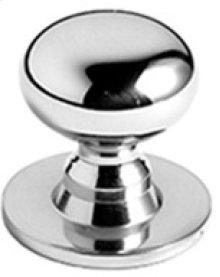 "Antique Brass Unlacquered Cupboard knob, 15/16"" diameter"